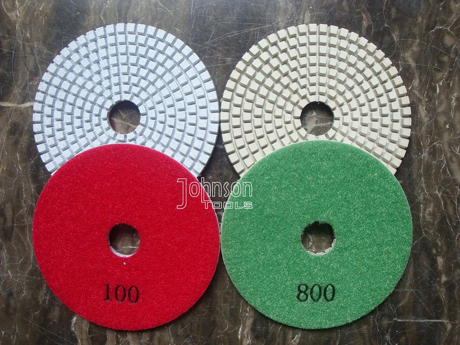 100mm White Marble Diamond Polishing Pads