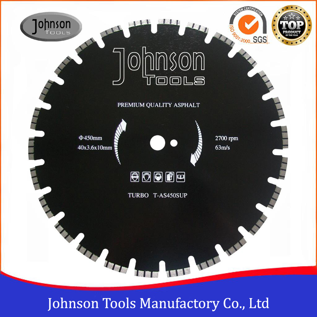 450mm Diamond Cutting Blade for Cutting Concrete and Asphalt Road