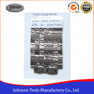 Turbo type Diamond Segments for Core Bits